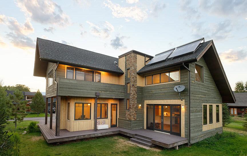 Quando il design sposa la sostenibilit maison du parquet - Casa prefabbricata moderna ...